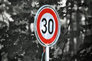 Tempo 30 Schild